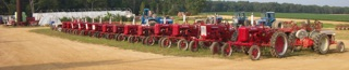 Farmall 140 super A AV culivator Bifulcos Farms Bifulco Tall Boy Brand Pittsgrove New Jersey USA