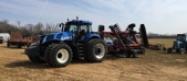 Ford New Holland T8 390 Case Disc Bifulcos Farms Bifulco Tall Boy Brand Pittsgrove New Jersey USA